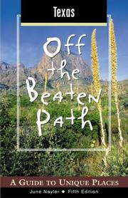 Cover of: Texas Off the Beaten Path, 5th | June Naylor