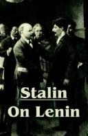 Cover of: Stalin on Lenin