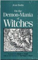 Cover of: On the demon-mania of witches | Jean Bodin