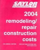 Cover of: Remodeling Repair Construction Costs | Stanley J. Strychaz
