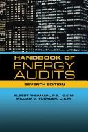 Cover of: Handbook of Energy Audits