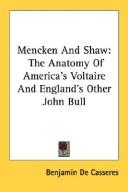 Cover of: Mencken And Shaw
