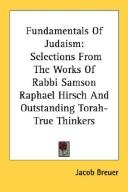 Cover of: Fundamentals Of Judaism | Jacob Breuer