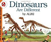 Cover of: Dinosaurs Are Different