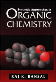 Cover of: Synthetic approaches in organic chemistry