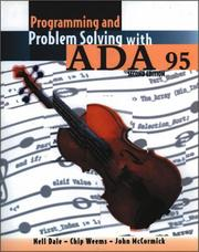 Cover of: Programming and problem solving with ADA 95