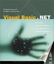 Cover of: Programming and Problem Solving with Visual Basic .NET