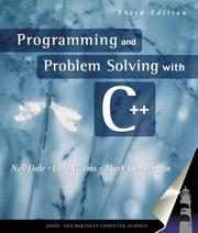 Cover of: Programming and Problem Solving With C++