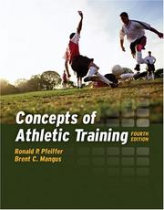 Cover of: Concepts of Athletic Training | Ronald P. Pfeiffer