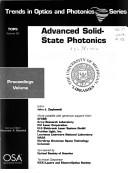 Advanced solid state photonics by OSA Topical Meeting on Advanced Solid-State Photonics