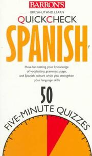 Cover of: Quick check Spanish
