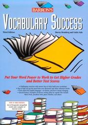 Cover of: Vocabulary success | Murray Bromberg