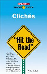 Cover of: A pocket guide to clichés
