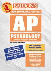 Cover of: How to Prepare for the Ap Psychology | Robert McEntarffer