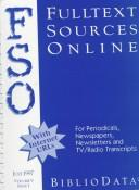 Cover of: Fulltext sources online |