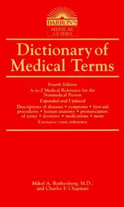 Cover of: Dictionary of Medical Terms (Dictionary of Medical Terms for the Nonmedical Person) | Mikel A. Rothenberg M.D.