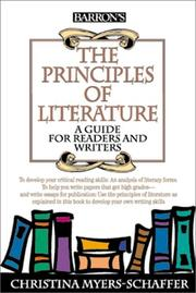 Cover of: The principles of literature: a guide for readers and writers