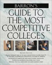 Cover of: Guide to the Most Competitive Colleges | Barron