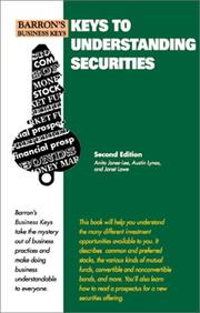 Cover of: Keys to understanding securities | Anita Jones-Lee