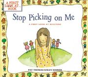 Cover of: Stop picking on me