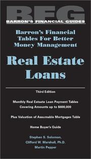 Cover of: Real estate loans | Stephen S. Solomon