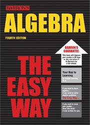 Cover of: Algebra, the easy way | Douglas Downing
