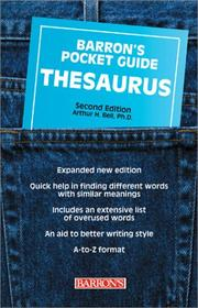 Cover of: Barron's pocket guide thesaurus