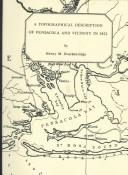 Cover of: A Topographical Description of Pensacola and Vicinity in 1821