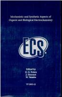 Cover of: Mechanistic and Synthetic Aspects of Organic and Biological Electrochemistry |