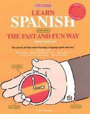 Cover of: Learn Spanish the Fast and Fun Way (Fast and Fun Way Series) | Gene Hammitt