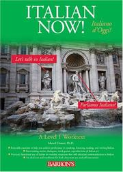 Cover of: Italian Now!: A Level One Worktext