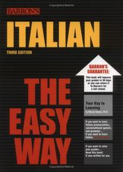 Cover of: Italian the easy way