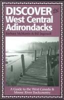 Cover of: Discover The West Central Adirondacks | Barbara McMartin