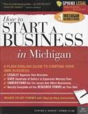Cover of: Start a Business in Michigan, 5E (How to Start a Business in Michigan) | Edward Haman