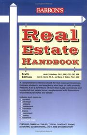 Cover of: Barron's real estate handbook