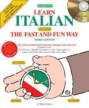 Cover of: Learn Italian the Fast and Fun Way with Audio CDs (Fast and Fun Way Compact Disc Packages)