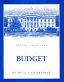 Cover of: Budget of the United States Government |