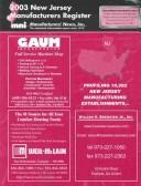 Cover of: 2003 New Jersey Manufactures Register (New Jersey Manufacturers Register) |