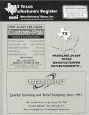 Cover of: 2003 Texas Manufacturers Register |