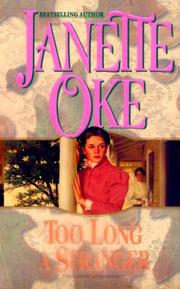 Cover of: Too Long a Stranger (Women of the West) by Janette Oke