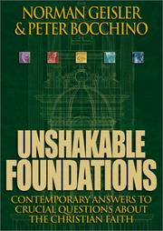 Cover of: Unshakable Foundations