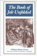 Cover of: The Book of Job Unfolded