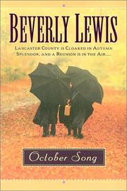 Cover of: October song | Beverly Lewis