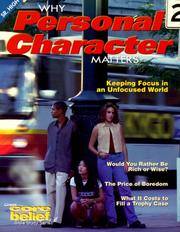 Cover of: Why Personal Character Matters (Core Belief Bible Study) |