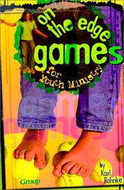 Cover of: On-the-edge games for youth ministry