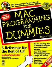 Cover of: Mac programming for dummies | Dan Parks Sydow