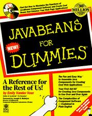 Cover of: Javabeans for dummies | Emily A. Vander Veer