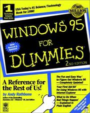 Cover of: Windows 95 for dummies | Andy Rathbone