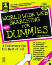 Cover of: World Wide Web searching for dummies