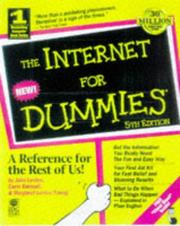 Cover of: The Internet for dummies | John R. Levine
